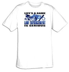 Cops - Law Enforcement Is Serious Funny Adult T-shirt Tee Shirt
