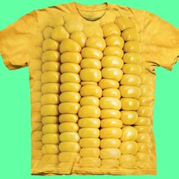 Corn Cob Shirt Tie Dye Adult T-Shirt Tee