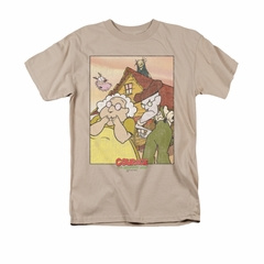 Courage The Cowardly Dog Shirt Gothic Courage Adult Sand Tee T-Shirt