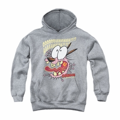 Courage The Cowardly Dog Youth Hoodie Scaredy Dog Athletic Heather Kids Hoody
