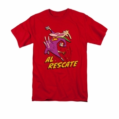 Cow & Chicken Shirt Al Rescate Adult Red Tee T-Shirt