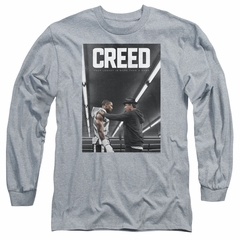 Creed Long Sleeve Shirt Movie Poster Athletic Heather Tee T-Shirt