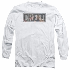 Creed Long Sleeve Shirt Pep Talk White Tee T-Shirt