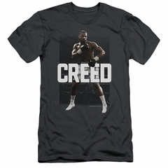 Creed Slim Fit Shirt Adonis Johnson Final Round Charcoal T-Shirt