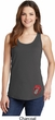 Crystal Tongue Patch Bottom Print Ladies Tank Top