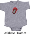 Crystal Tongue Patch Middle Print Baby Onesie