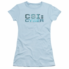 CSI Cyber Shirt Juniors Logo Light Blue T-Shirt