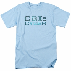 CSI Cyber Shirt Logo Light Blue T-Shirt