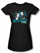 CSI Juniors T-shirt Cross The Line Girly Black Tee