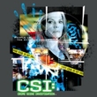 CSI Juniors T-shirt Evidence Collage Girly Charcoal Tee