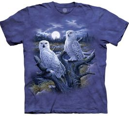 SNOW OWLS Adult Tie Dye T-shirt - CLEARANCE