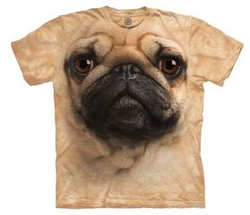PUG FACE Adult Tie Dye T-shirt - CLEARANCE
