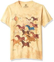 HORSES with SUN Tie Dye T-shirt - CLEARANCE
