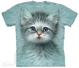 Cute Grey Kitten Shirt Tie Dye Adult T-Shirt Tee