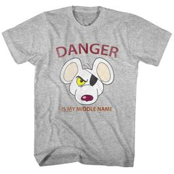 Danger Mouse Shirt Middle Name Athletic Heather T-Shirt