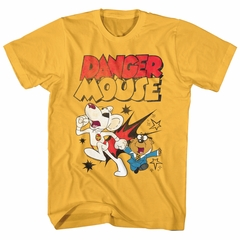 Danger Mouse Shirt Running Gold T-Shirt
