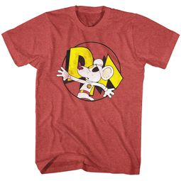 Danger Mouse Shirt Suprised Red Heather T-Shirt