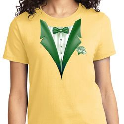 Dark Green Tuxedo Ladies Shirts
