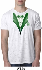 Dark Green Tuxedo Mens Burnout Shirt