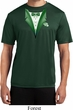 Dark Green Tuxedo Mens Moisture Wicking Shirt