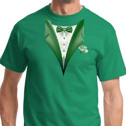 Dark Green Tuxedo Mens Shirts