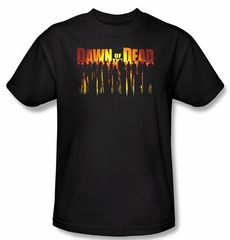 Dawn Of The Dead T-Shirt Walking Adult Black Tee Shirt
