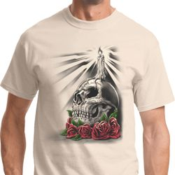 Day of the Dead Candle Skull Mens Halloween Shirts