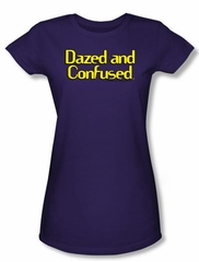 Dazed And Confused Juniors T-shirt Dazed Logo Purple Tee Shirt
