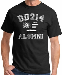 DD214 Military Veteran Alumni T-shirt - Black