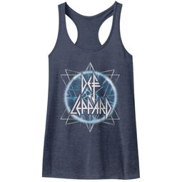 Def Leppard Juniors Tank Top Electric Eye Navy Blue Racerback
