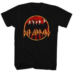 Def Leppard Shirt Group Shot Black Tee T-Shirt