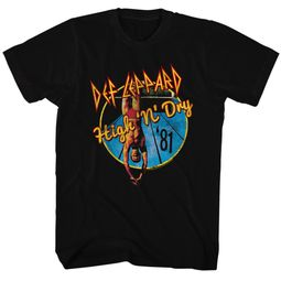 Def Leppard Shirt High N Dry Black Tee T-Shirt