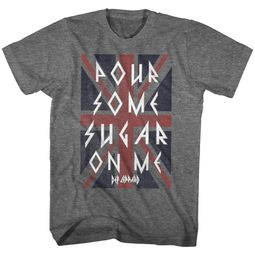 Def Leppard Shirt Pour Some Sugar On Me Dark Grey T-Shirt