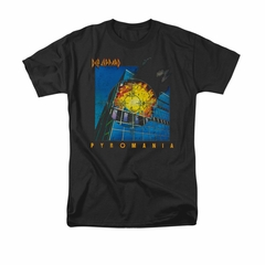 Def Leppard Shirt Pyromania Black T-Shirt