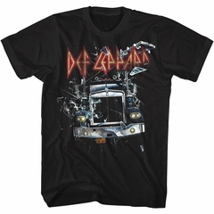 Def Leppard Shirt Semi Truck Black T-Shirt