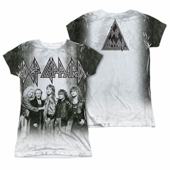 Def Leppard Shirt The Band Sublimation Juniors Shirt