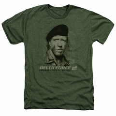 Delta Force 2 Shirt You Can't See Me Heather Military Green T-Shirt