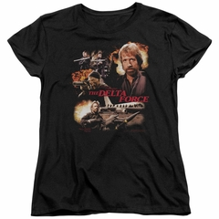 Delta Force Womens Shirt Action Pack Black T-Shirt