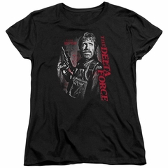 Delta Force Womens Shirt Black Ops Black T-Shirt