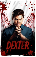 "Dexter ""Blood Never Lies"" Fleece Blanket - 36"" X 58"""
