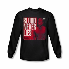 Dexter Shirt Blood Never Lies Long Sleeve Black Tee T-Shirt