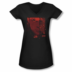 Dexter Shirt Juniors V Neck Normal Black T-Shirt