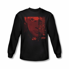 Dexter Shirt Normal Long Sleeve Black Tee T-Shirt