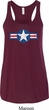 Distressed Air Force Star Ladies Flowy Racerback Tanktop