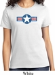 Distressed Air Force Star Ladies Shirt