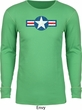 Distressed Air Force Star Long Sleeve Thermal Shirt