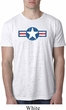 Distressed Air Force Star Mens Burnout Shirt