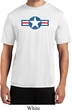 Distressed Air Force Star Mens Moisture Wicking Shirt