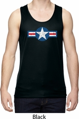 Distressed Air Force Star Mens Moisture Wicking Tanktop
