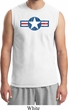 Distressed Air Force Star Mens Muscle Shirt